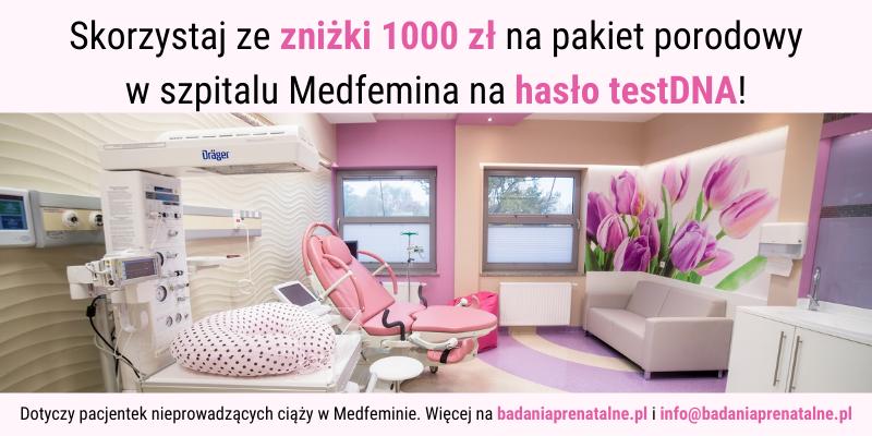 znizka 1000 zl na pakiet porody w szpitalu w medfeminie